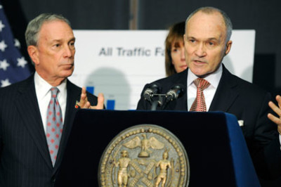Michael Bloomberg and Ray Kelly. Both have recently been criticized for their handling of the stop-and-frisk issue. Photograph: Henny Ray Abrams/AP