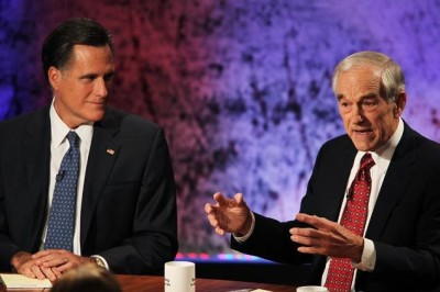 Mitt Romney and Ron Paul shared - even during the heated Republican primary.         Photo: Justin Sullivan