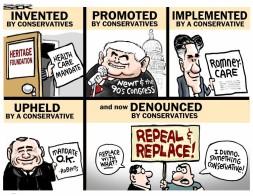 Obamacare republican cartooon