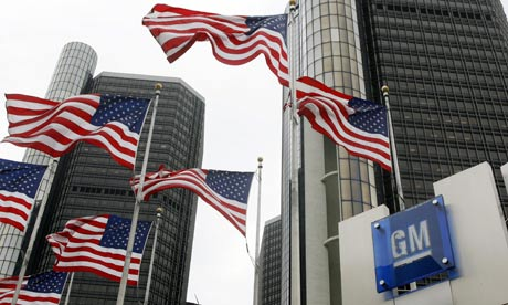 The estimated cost of the General Motors bailout to American taxpayers is $10-12bn. Photograph: Rex Features/Canadian Press