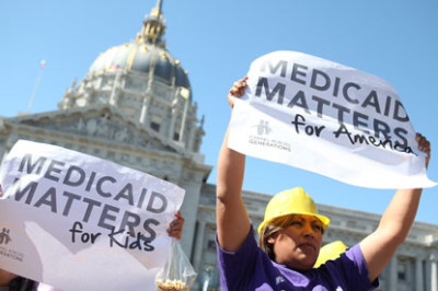 Republican-controlled states argued before the supreme court that the ACA law's expansion of Medicaid is unconstitutionally coercive. Photograph: Justin Sullivan/Getty Images