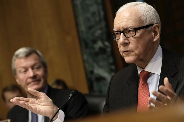 Ranking member U.S. Senator Orrin Hatch (R-UT) questions current and former IRS employees while they testify before the Senate Finance Committee as committee Chairman Senator Max Baucus (D-MT) listens on May 21 in Washington   Photograph by Win McNamee/Getty Images