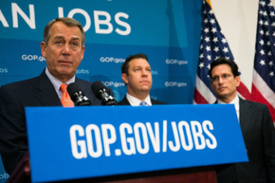 John Boehner said the House of Representatives would deal with immigration reform 'in chunks'. Photograph: Drew Angerer/Getty Images