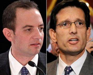 Republican National Committee chairman Reince Priebus (left) and House Majority Leader Eric Cantor (R-Va.) | Associated Press