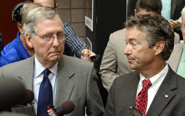 Kentucky Senators Mitch McConnell and Rand Paul Get Caught Discussing Shutdown Strategy | AP
