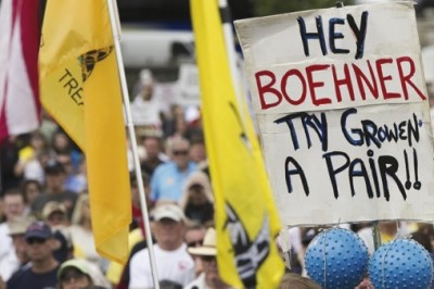 Groundswell: The tea party in action. | Saul Loeb/AFP/Getty Images