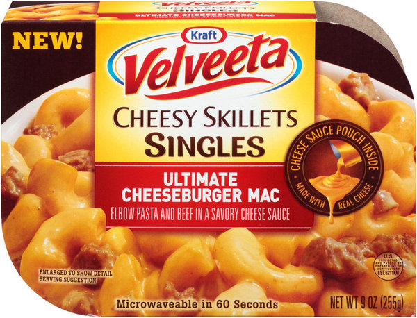 Packages of Velveeta Cheesy Skillets Singles -- Ultimate Cheeseburger Mac have been recalled. Certain packages contain soy ingredients, but do not list them on the packaging. (Kraft Foods )