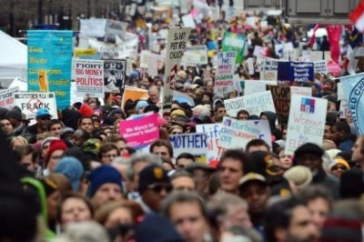 Saturday, thousands of people from all over the state and the nation marched through downtown Raleigh in what organizers describe as a Mass Moral March to push back against Republican-led legislation in North Carolina.