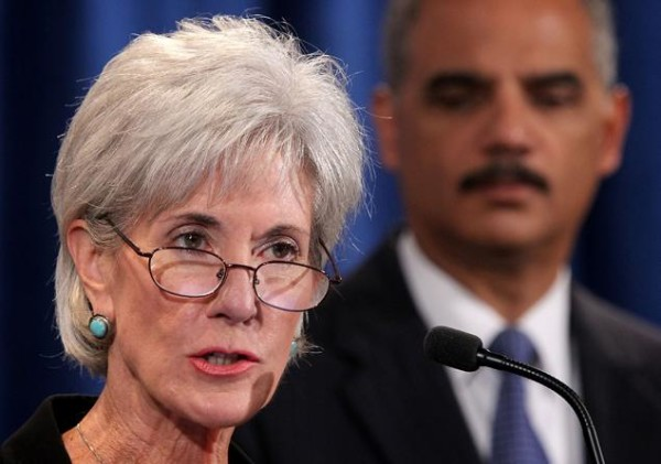 HHS Secretary Kathleen Sebelius and U.S. Attorney General Eric Holder say the federal government recovered a record $16.61 billion in health care fraud over the last 4 years in large part because of strengthened enforcement provisions in the Affordable Care Act, also known as Obamacare. | Alex Wong/Getty Images