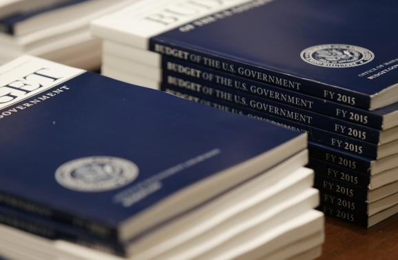 U.S. President Barack Obama's fiscal year 2015 budget proposal is seen on Capitol Hill after being delivered to the Senate Budge Committee in Washington March 4, 2014. | Credit: REUTERS/Gary Cameron