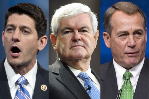 Republicans Paul Ryan, Newt Gingrich, and John Boehner. | (Photo: AP/Manuel Balce Ceneta/Reuters/Tami Chappell/Jonathan Ernst)