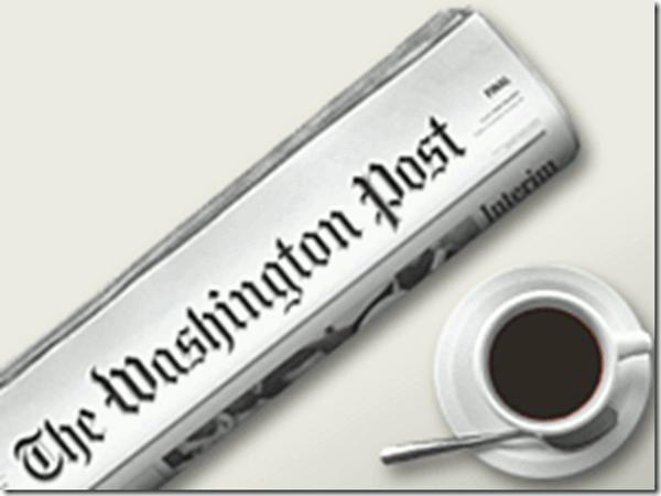 Washington Post newspaper and cup of coffee
