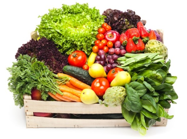 Organic fruits and vegtables