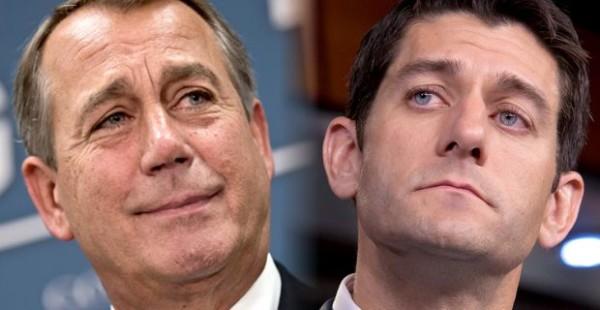 John Boehner (R-OH) and Paul Ryan (R-WI)