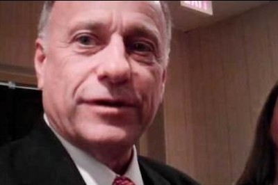 Rep. Steve King, R-Iowa speaks to reports at the Conservative Political Action Conference (CPAC) on Feb. 9, 2012.