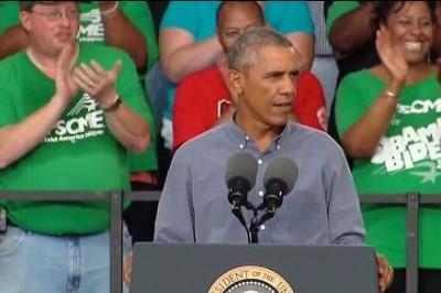 President Obama speaks at the 2014 Milwaukee Laborfest