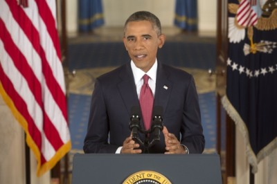 President Obama delivers an address to the nation on the U.S. Counterterrorism strategy to combat ISIL