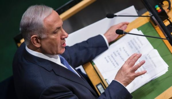 Benjamin Netanyahu at the United Nations General Assembly on September 29, 2014.