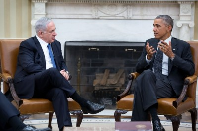 Obama holds a bilateral meeting with Netanyahu on October 1, 2014