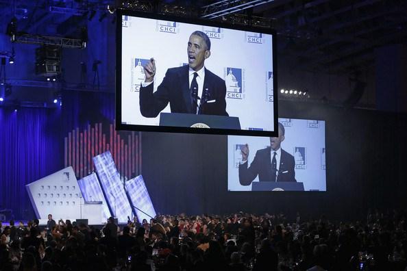 President Obama addresses the Congressional Hispanic Caucus Institute Awards Gala