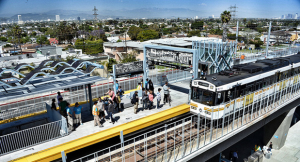 The same week the first phase opened, Reason concluded Los Angeles's Expo Line ridership projections were greatly exaggerated. One year later, the line had already surpassed projections for 2020. (Photo: Buildexpo.org)