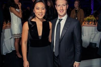 Facebook's CEO Mark Zuckerberg and his wife, Priscilla Chan