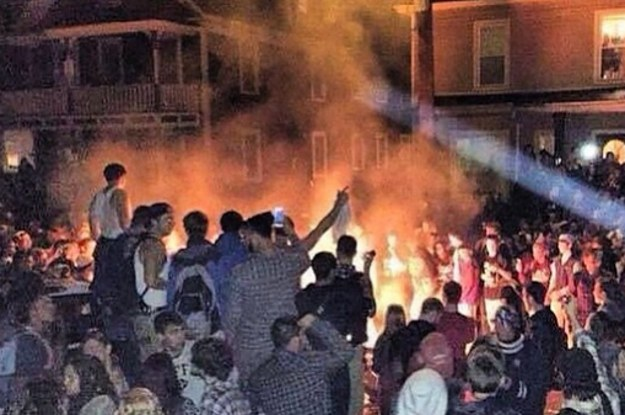 riots at New Hampshire's Pumpkin Festival, October 18, 2014