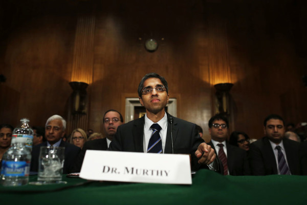 Dr. Vivek Murthy, President Barack Obama's nominee to be the next U.S. Surgeon General, prepares to testify on Capitol Hill, Feb. 4, 2014, in Washington, DC. | Charles Dharapak/AP