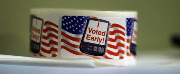 """I Voted Early"""" stickers"""