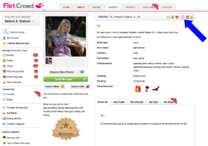 "Sample fake, computer-generated ""Virtual Cupid"" profile on one of defendants' websites."
