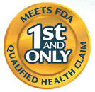 """image of Gold badge featured in some Gerber ads stating that Good Start Gentle is the """"1st and Only"""" formula that """"Meets FDA Qualified Health Claim."""""""
