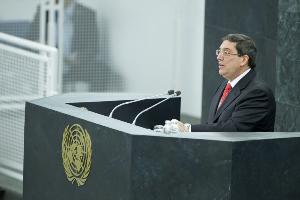 Foreign Minister Bruno Rodríguez Parrilla of Cuba addresses the General Assembly