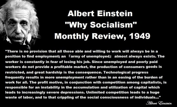 Albert Einstein Why Socialism