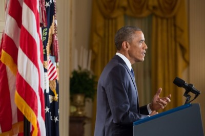 President Barack Obama delivers an address to the nation on immigration on Nov. 20, 2014