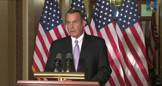 "House Speaker John Boehner declared today that President Obama was ""damaging the presidency"" with his unilateral action on immigration."
