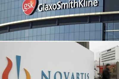 image of GlaxoSmithKline And Novartis logos