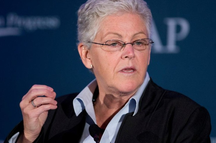 image of EPA Administrator Gina McCarthy speaking at the Center for American Progress Second Annual Policy Conference in Washington, Wednesday, Nov. 19, 2014.