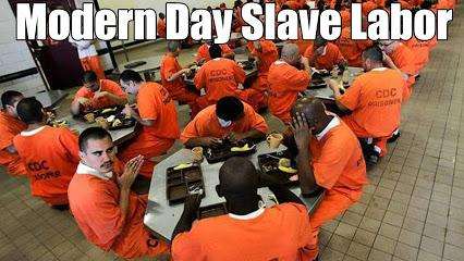 image of incarceration male inmates in the United States, Modernized Slave Labor