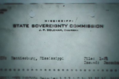 image of Mississippi State Sovereignty Commission letterhead