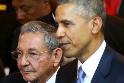 Barack Obama and Raul Castro