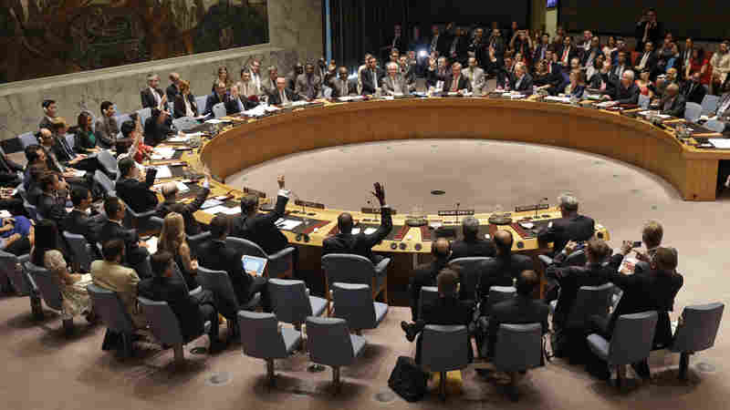 UN Security Council votes and unanimously endorses the Iran nuclear agreement, July 20, 2015.