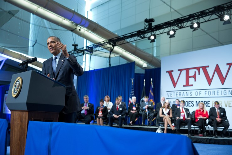 President Obama speaks at the 116th National Convention of the Veterans of Foreign Wars