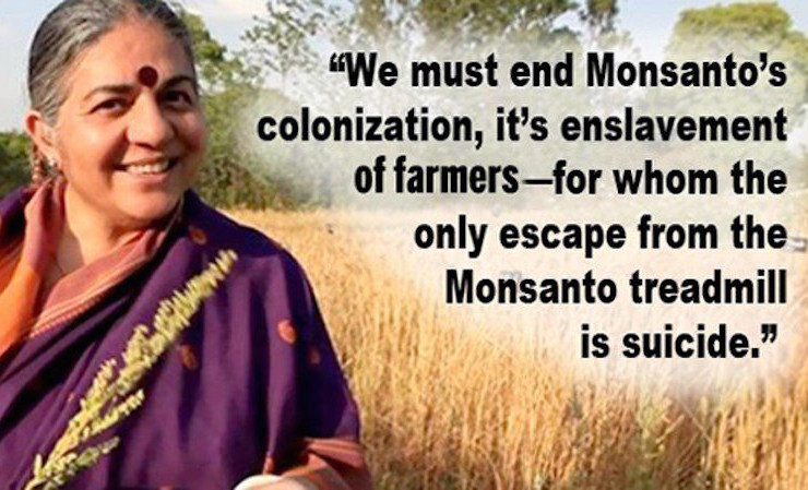 Vandana Shiva: 'We Must End Monsanto's Colonization, It's Enslavement of Farmers'