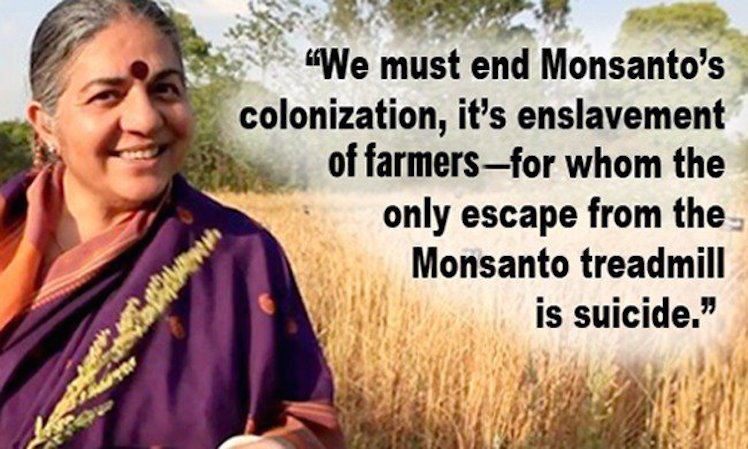 Vandana Shiva: 'We Must End Monsanto's Colonization, It's Enslavement of Farmers'