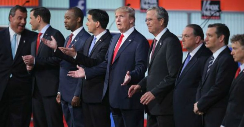 Republican Presidential Candidates at FoxNews Debate on August 6, 2015