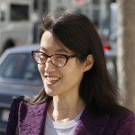 Ellen Pao leaves the Civic Center Courthouse during a lunch break in her trial in San Francisco.