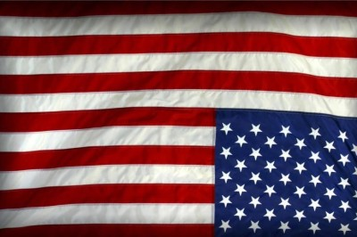 image of American flag upside down
