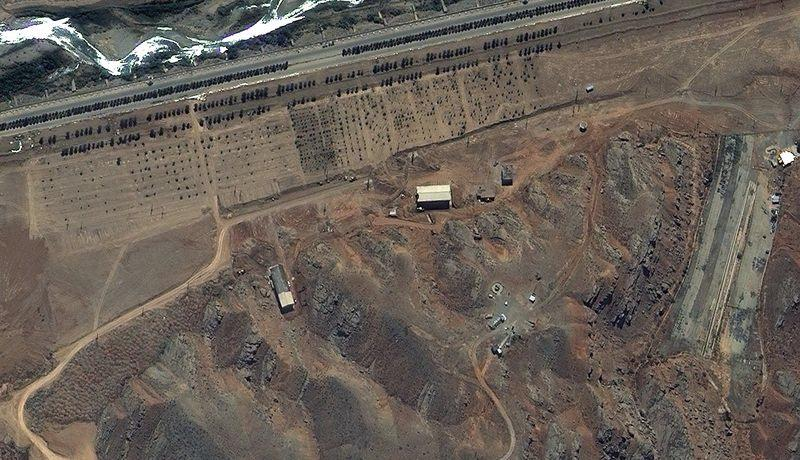 A 2012 satellite photo of the Parchin explosives test building. (DigitalGlobe via Getty)
