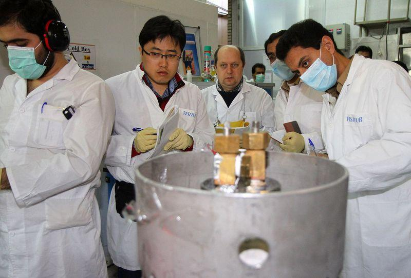IAEA nuclear inspectors at Iran's nuclear facility at Natanz in 2014. (KAZEM GHANE/AFP/Getty)