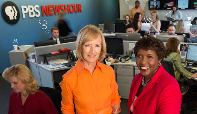 Judy Woodruff and Gwen Ifill of PBS NewsHour